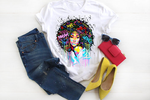 Dream Love Live Afro Graffiti Girl