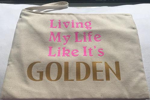 Living My Life Like It's Golden Wristlet