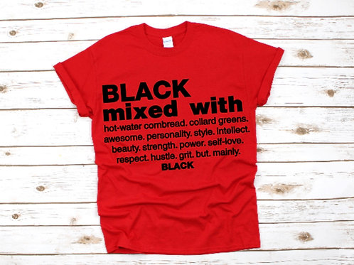 Black Mixed With