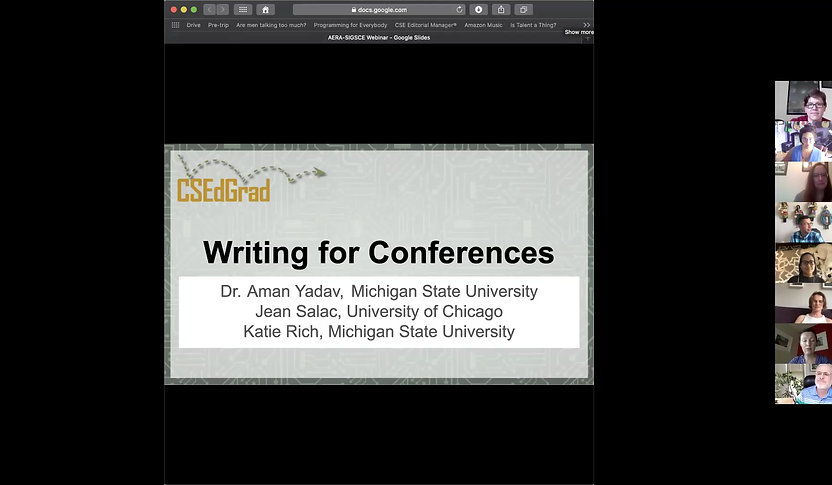 Webinar on How to write a good conference paper
