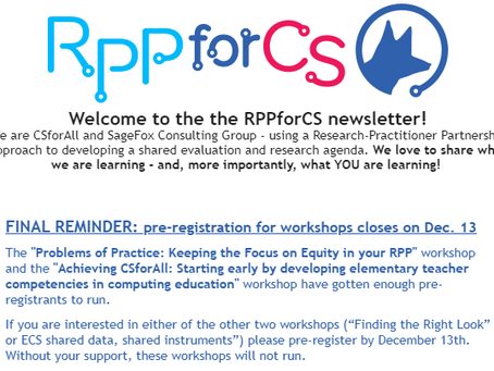The latest RPPforCS Newsletter is out!