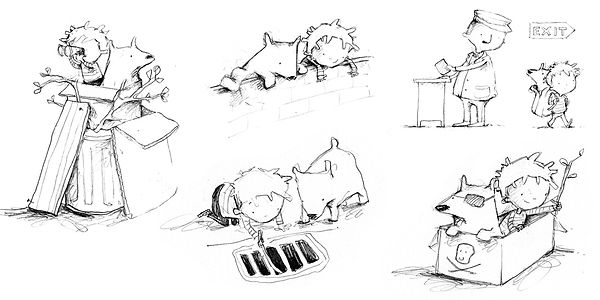 Sketches from Eddie and Dog by Alison Brown