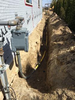 Gas Piping Underground 1 - Dugard Plumbing, Heating & Cooling