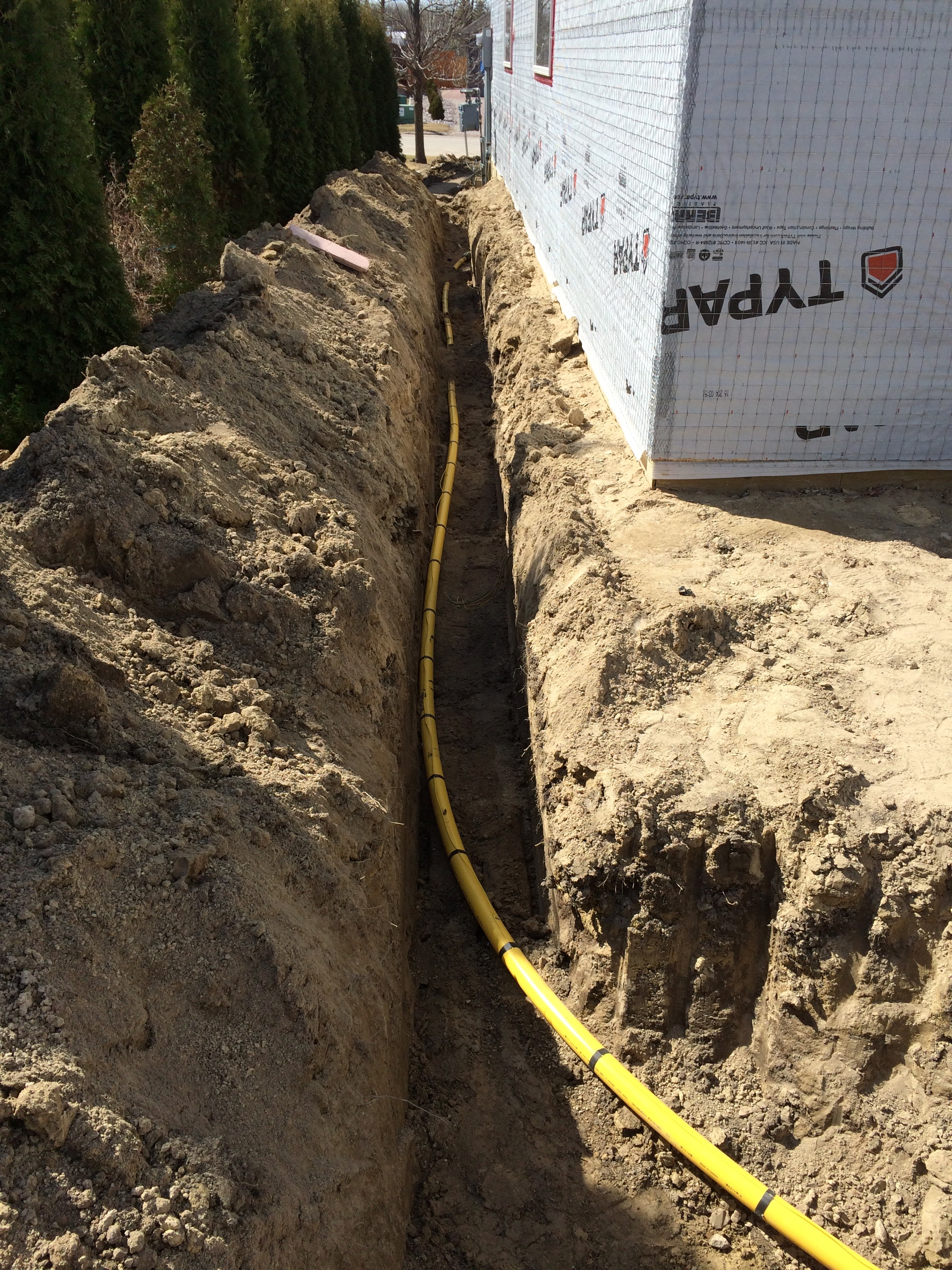 Gas Piping Underground 2 - Dugard Plumbing, Heating & Cooling