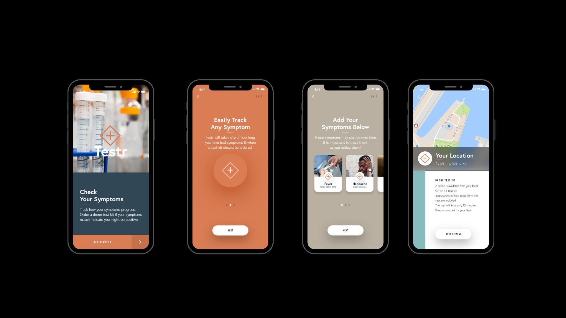Testr: The Symptom Tracker App & Home Test Kit
