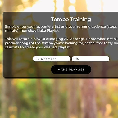 Tempo Training