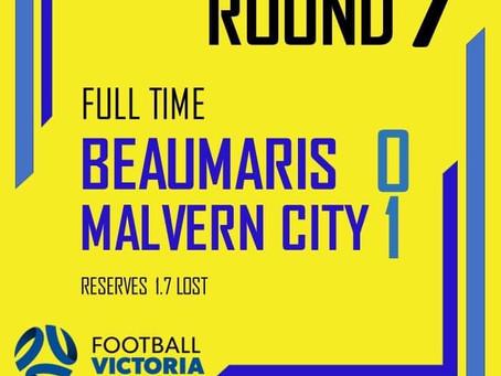 Seniors Round 7: Beaumaris 0 - 1 Malvern City