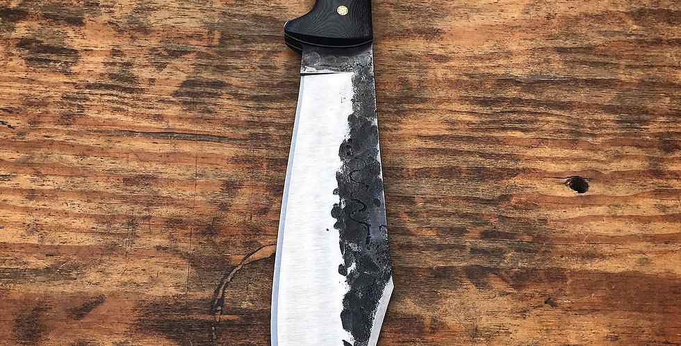 Hand Forged Snake Brand Bowie with custom sheath (only 5 available for 2020)