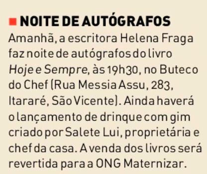 Jornal da Orla – coluna Clara Monforte