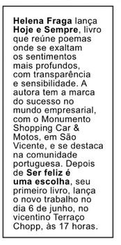 Revista Mais Santos – coluna Vera Leon
