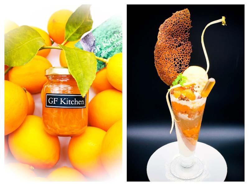 GF Kitchenの国産レモンのコンフィチュールとパフェ