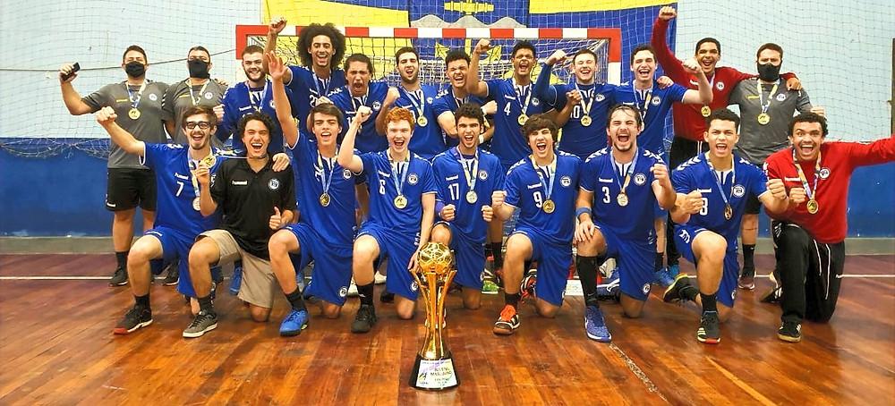 Esporte Clube Pinheiros (SP) conquistou o título do Campeonato Brasileiro de Handebol Juvenil Masculino. (foto divulgação do evento)