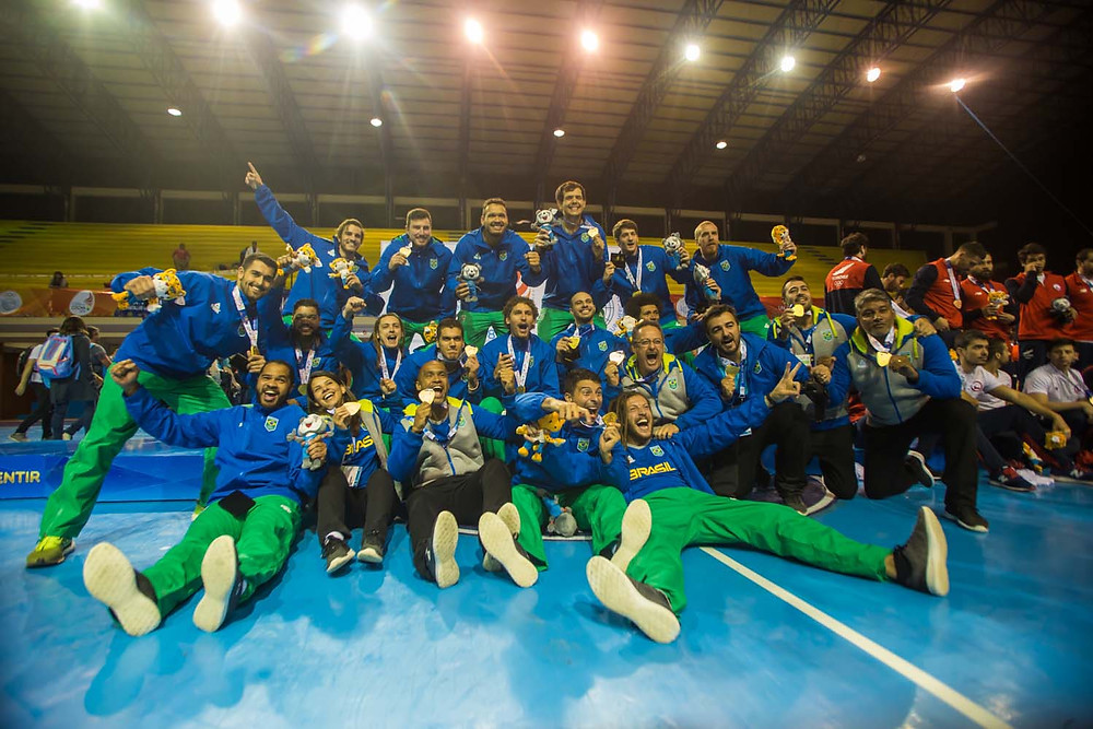 Brasil é Campeão dos Jogos Sul-Americanos 2018 (arte Tchê Esportes)