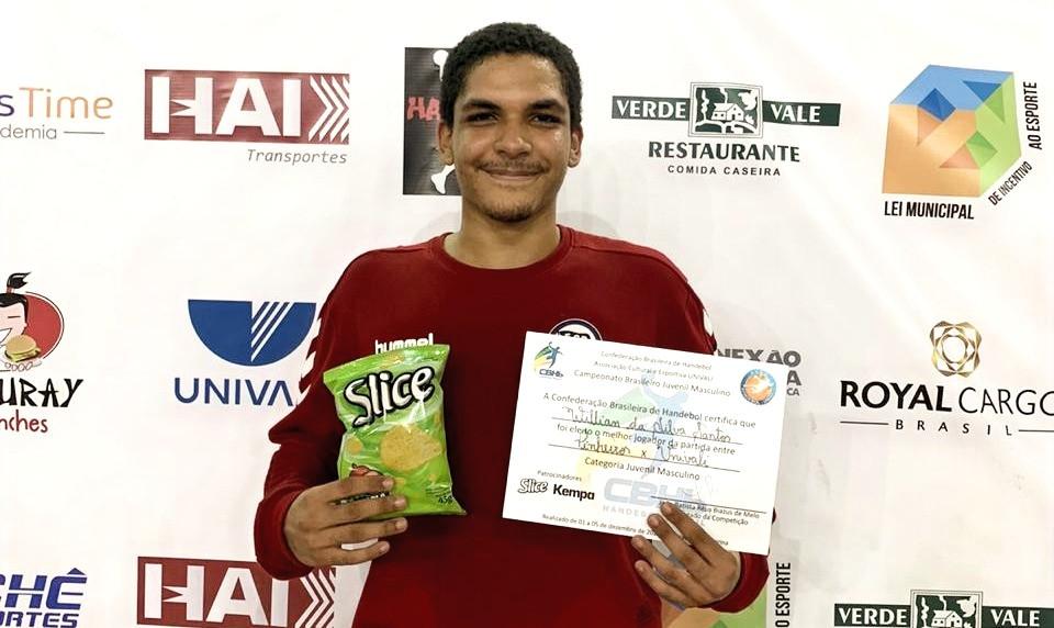 Willian da Silva Santos, goleiro do EC Pinheiros (SP). (foto divulgação do evento)