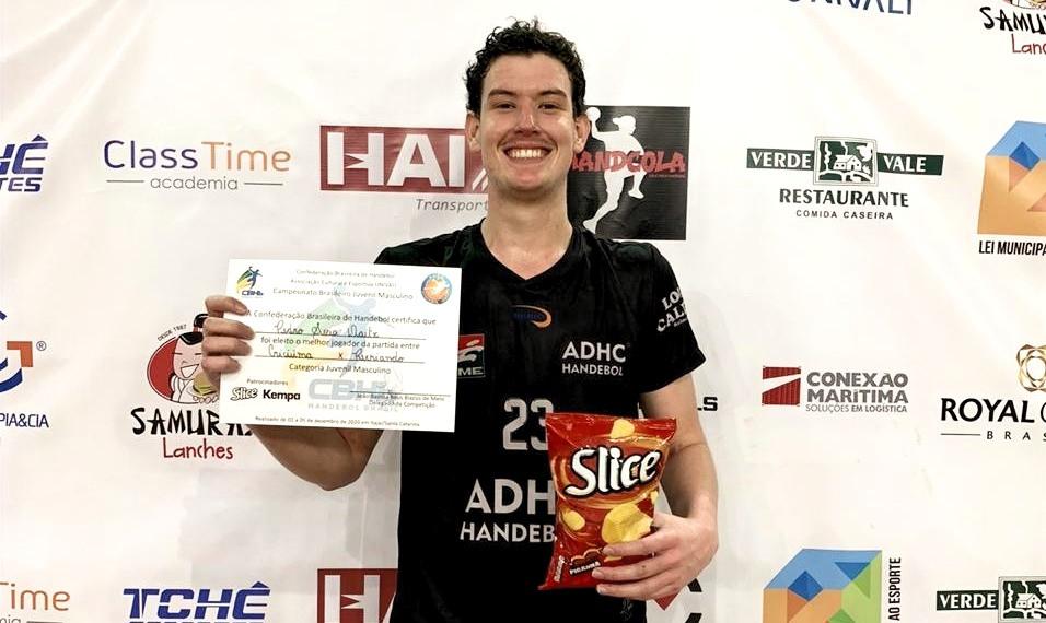 Pedro Sosa, pivô do ADHC (SC), Player of the Match da disputa do 5º lugar. (foto divulgação do evento)