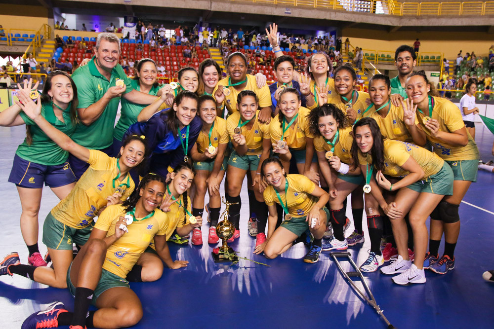Brasil Campeão Pan-Americano de Handebol Júnior Feminino. (foto Randes Nunes/CBHb)