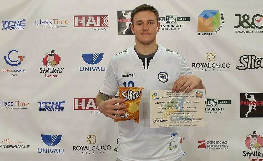 Philipp Seifert, armador direito do Esporte Clube Pinheiros.  (foto Divulgação Evento)
