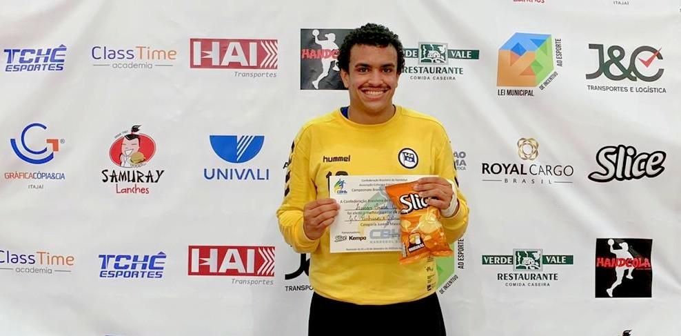 Lucas Oneda Guedes, goleiro do EC Pinheiros. (foto divulgação do evento)