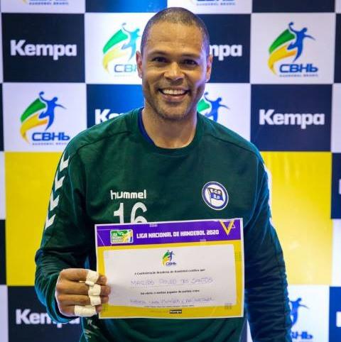 Marcão, do Pinheiros, MVP do jogo. (foto Bruno Ruas /LNH)