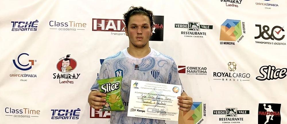 João Victor Soares Flores, do Nacional-SC. (foto divulgação do evento)