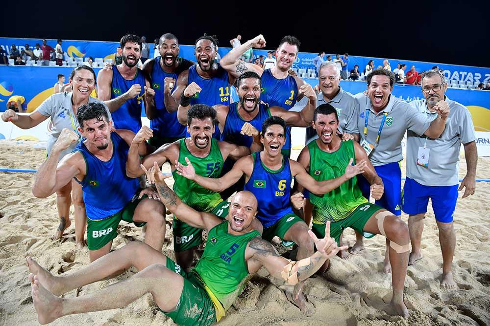Seleção Brasileira Masculina de Beach Handebol (foto Divulgação evento)