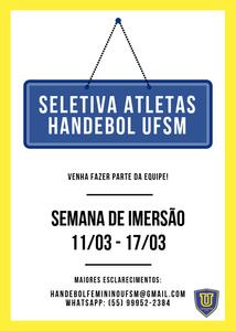 Arte: Handebol Feminino UFSM