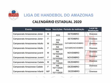 Amazonas retoma as competições de Handebol em Setembro