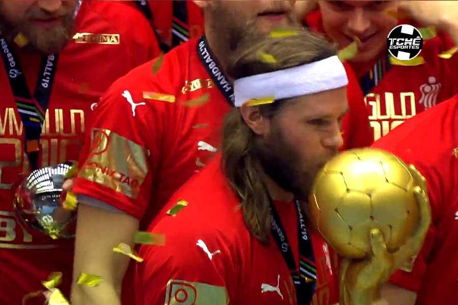 Mikkel Hansen, MVP do Mundial 2019. (foto reprodução)