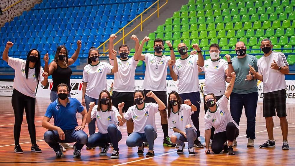 Staff da Liga Nacional de Handebol (foto divulgação do evento)
