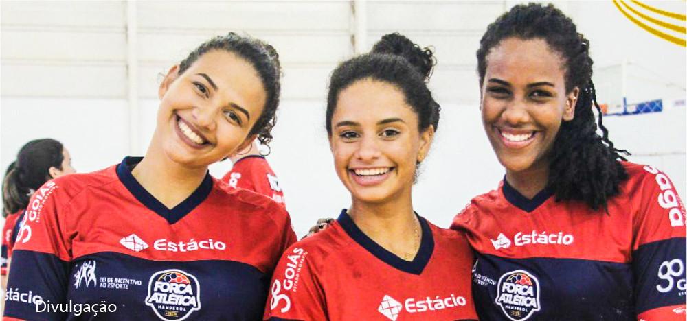 Abyda Rafaela, Juliana Morgana e Giulia de Pieri, atletas goianas convocadas. (foto Divulgação)