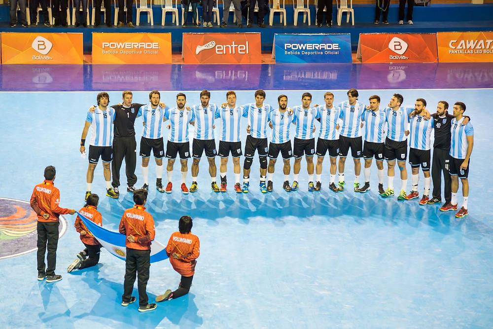 Seleção de Handebol da Argentina. (foto divulgação evento)