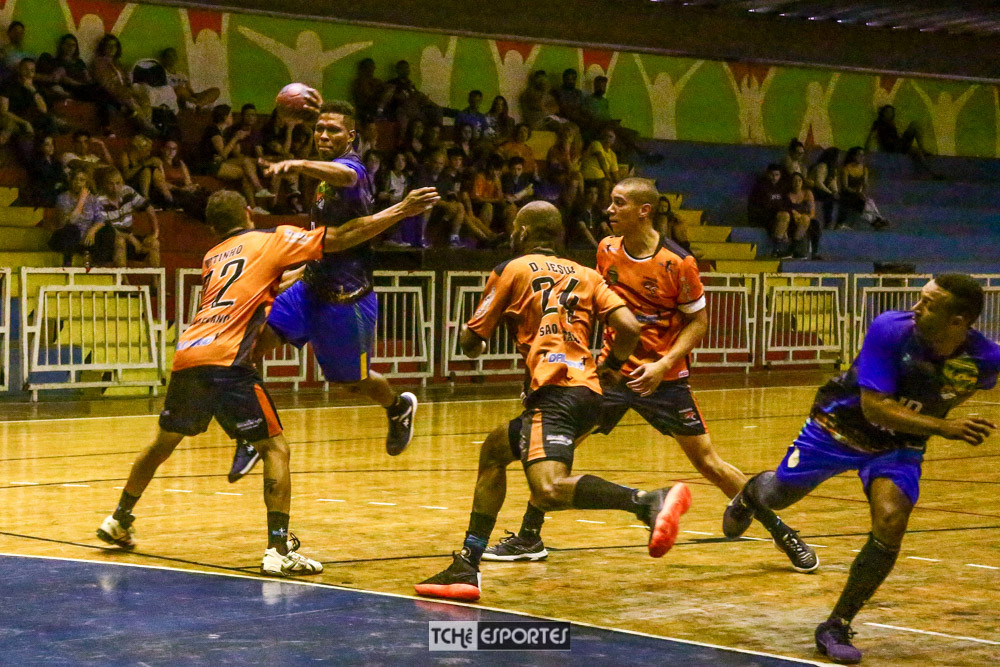 São Caetano(SP) vs GHC(PI),  1º jogo pelas Quartas de final da Liga Nacional Masculina de Handebol 2018 (foto André Pereira - Tchê Esportes)