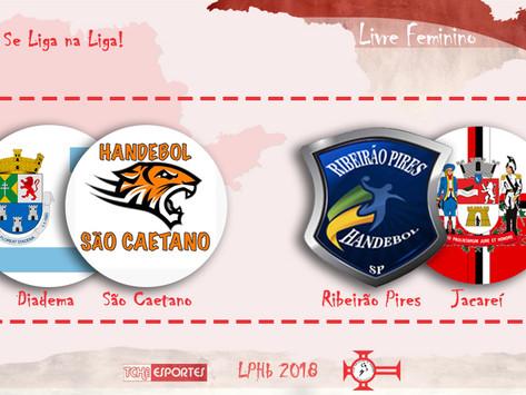 #Resumão 24/junho: São Caetano e Ribeirão Pires vencem na rodada da LPHb feminina