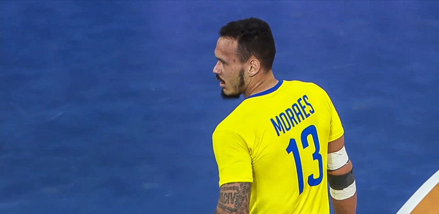 Rogério Moraes, pivô da Seleção Brasileira  - foto: reprodução/IHF