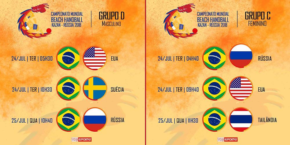 Jogos das Seleções Brasileira de Beach Handball (arte Tchê Esportes)