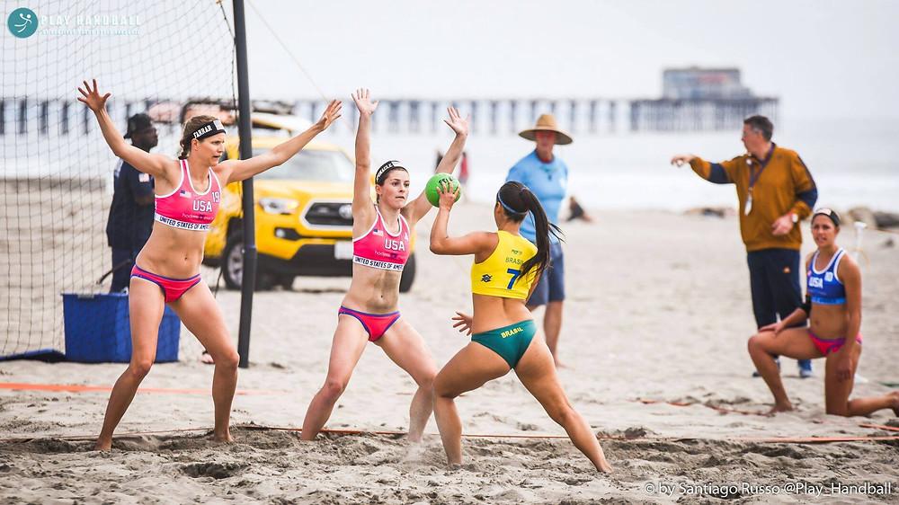 Seleção Brasileira Masculina de Handebol de Areia  (foto reprodução do eventol)