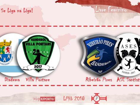 #Resumão 18/ago: Villa Portare e ASE Santista vencem na rodada da LPHb feminina