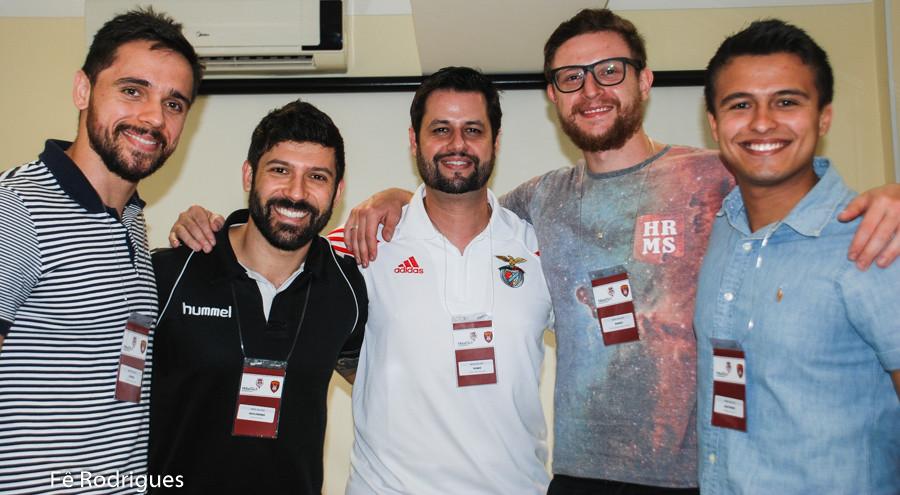 Diogo Hubner, Guilherme Borin, Diego Melo, Roney Franzini e Matheus Cobucci (da esquerda). (foto Fê Rodrigues / Tchê Esportes)