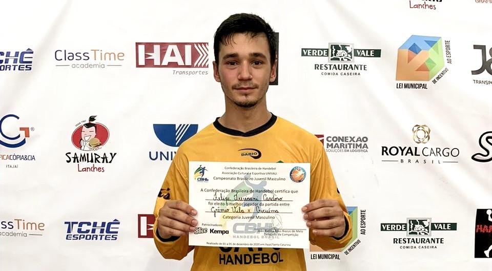 Felipe Trevisani Cardoso, goleiro do ADH Criciúma. (foto divulgação evento)