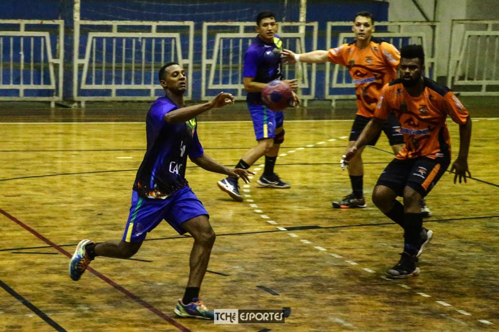 Thiago Cruz, GHC(PI), artilheiro do jogo. (foto Andre Pereira/Tchê Esportes)