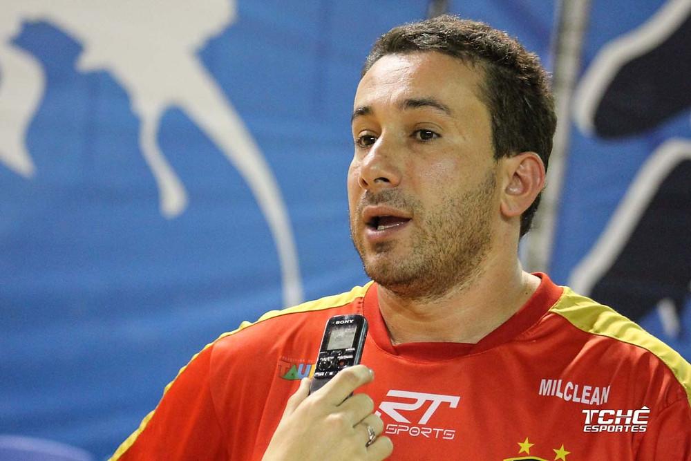 Marcus Tatá, técnico do Taubaté-SP e Seleção Brasileira Masculina. (foto arquivo Tchê Esportes)