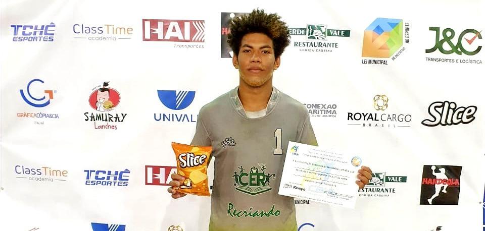 Angelo Rafael, goleiro do Recriando, do Rio de Janeiro. (foto Divulgação do Evento)