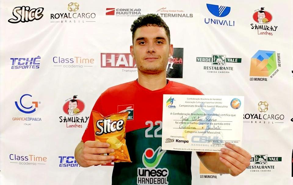 João Victor Rosso, do ADH Criciúma (SC). (foto divulgação do evento)