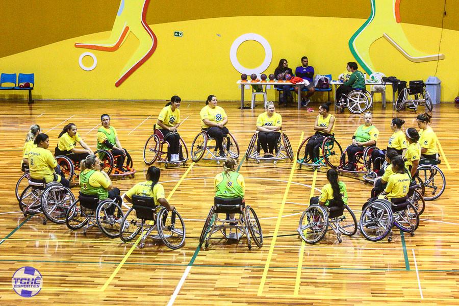 Seleção Brasileira Feminina na fase de treinamento no Centro Paralímpico em São Paulo (SP)