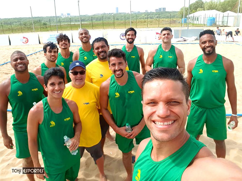 Seleção Brasileira - Mundial Beach Hand - Rússia 2018 (foto arquivo pessoal)