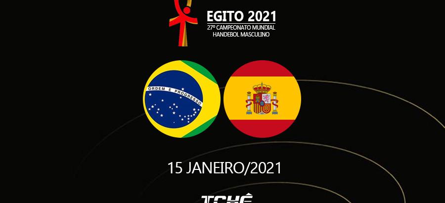 Brasil começa contra a Espanha no Mundial de Handebol do Egito 2021