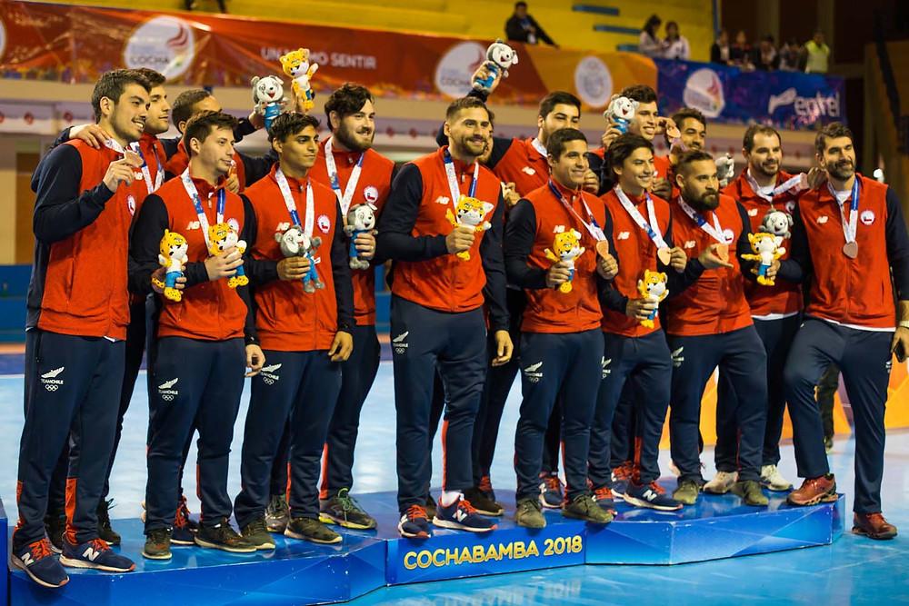 Seleção de Handebol do Chile. (foto divulgação evento)