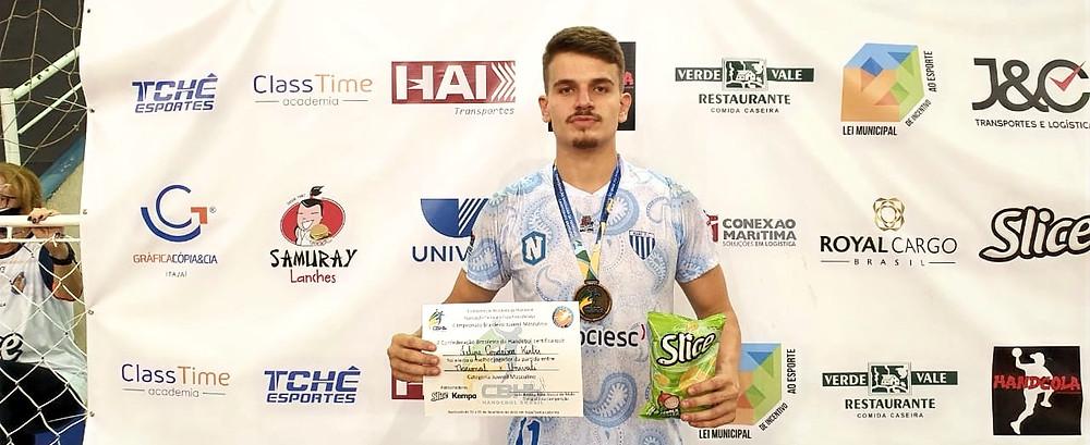 Felipe Condeixa Kerber, do Nacional (SP), foi eleito o destaque da disputa do Bronze. (foto divulgação do evento)