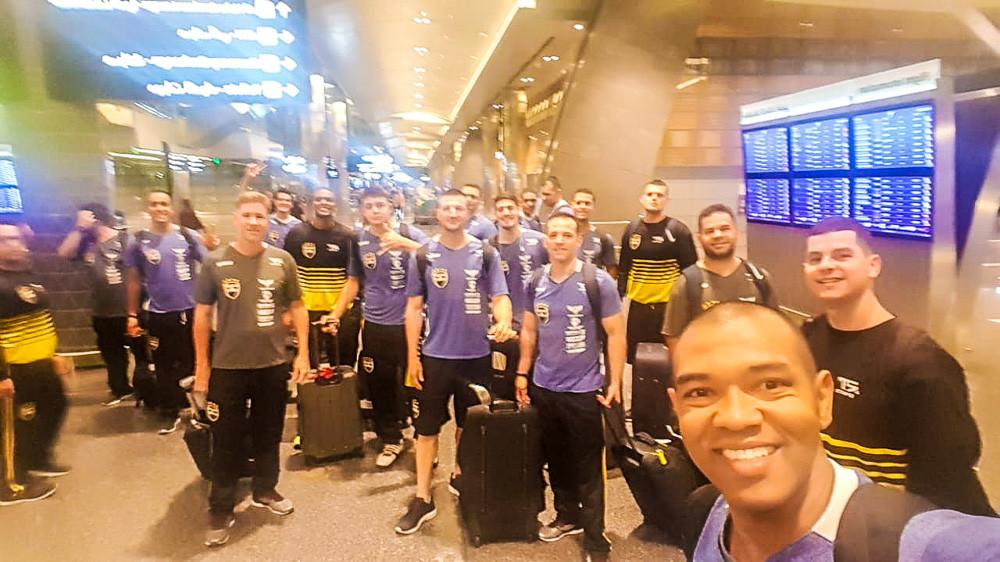 Embarque da equipe brasileira. (foto Divulgação)