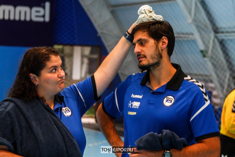 Ana Romancini e Claudio Silva. (foto André Pereira / Tchê Esportes)